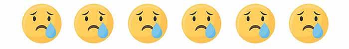 悲しい顔の絵文字